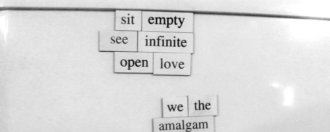 sit empty see infinite open love